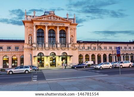 Zagreb main railway station - stock photo