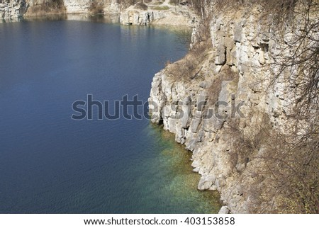 Zakrzowek lake, Krakow, Poland. - stock photo