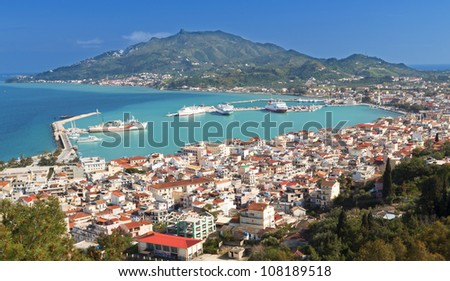 Zakynthos island at the ionian sea in Greece - stock photo