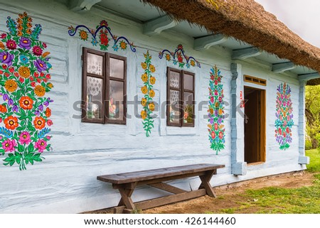 Poland folk stock photos royalty free images vectors for Case in legno in polonia