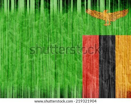 Zambia flag paper texture - stock photo