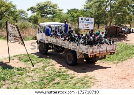ZAMBIA - OCTOBER 14 2013: Local people go about day to day life in Zambia, Africa - stock photo