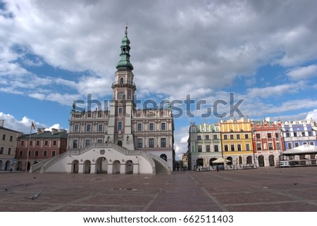 Zamosc, a Renaissance town in Central Europe