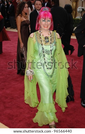 ZANDRA RHODES at the 78th Annual Academy Awards at the Kodak Theatre in Hollywood. March 5, 2006  Los Angeles, CA  2006 Paul Smith / Featureflash - stock photo