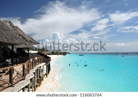 Zanzibar beach - stock photo