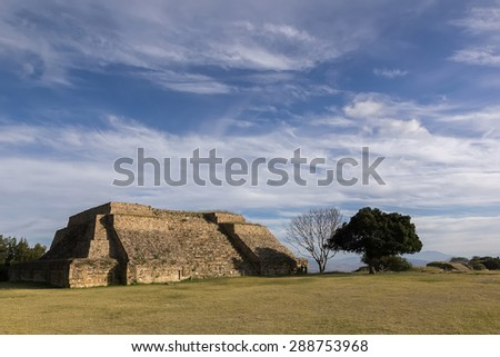 Zapotec ruins in Oaxaca, Mexico  - stock photo