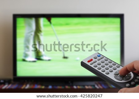 Zapping tv during golf, sports television