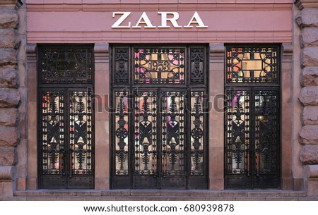 Zara store. Ukraine, Kiev - July 2, 2017