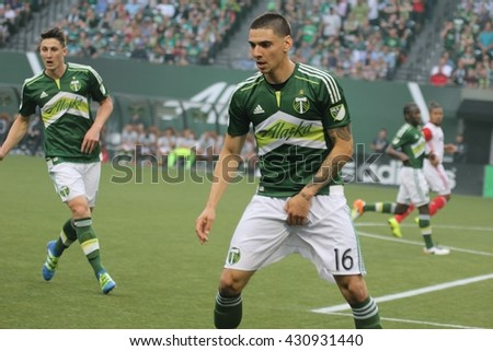 Zarek Valentin Defender For The Portland Timbers At Providence Park In  Portland Oregon USA 6