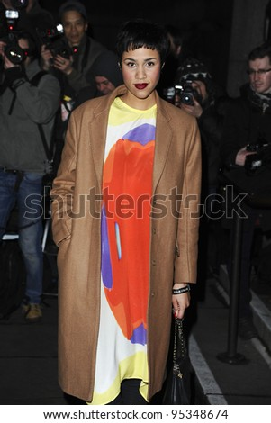 Zawe Ashton arrives for the arriving for the Evening Standard Film Awards, County Hall, London. 06/02/2012 Picture by: Steve Vas / Featureflash