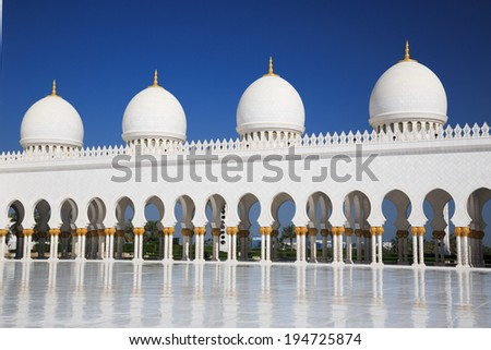 Zayed grand mosque in UAE
