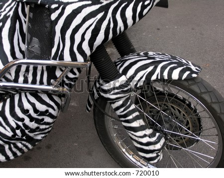 Zebra Bike Wheel