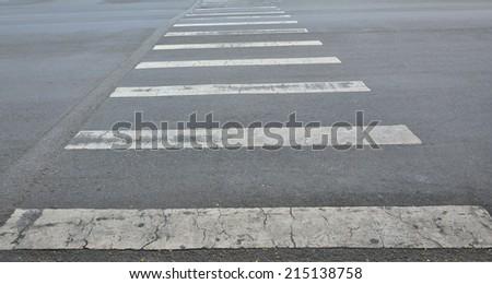zebra crossing - stock photo