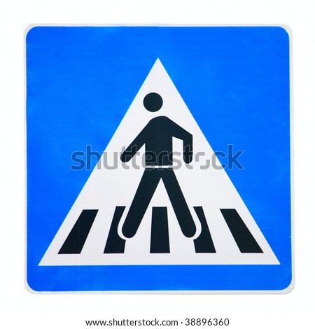 zebra crossing traffic highway or road sign