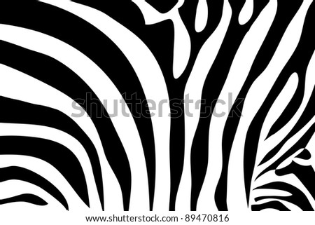 Zebra patterned background black and white