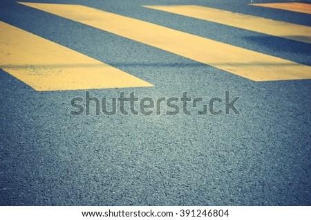 zebra traffic walk way - stock photo