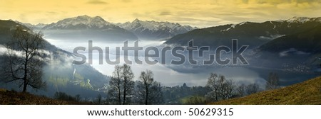 Zell am See in Austria - stock photo