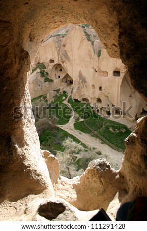 Zelve open air museum, Cappadocia, Turkey. - stock photo