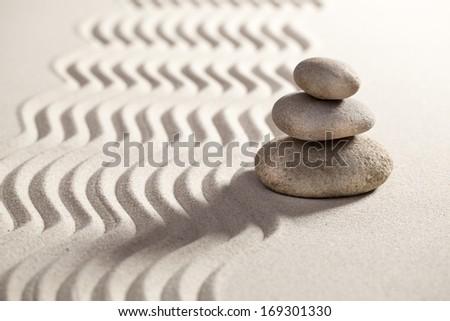 zen balance for serenity and massage - stock photo