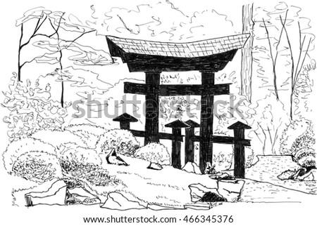 Zen Garden Stock Illustration 466345376
