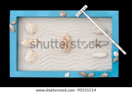 Zen Garden / isolated on black - stock photo