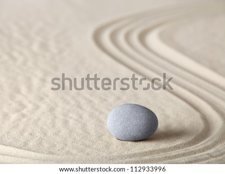 zen garden meditation stone as concept for relaxation harmony simplicity and meditation Asian Japanese culture