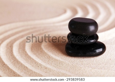 Zen garden with stones for relaxation