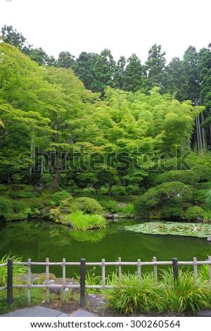 Zen Gardens in Summer Season - stock photo