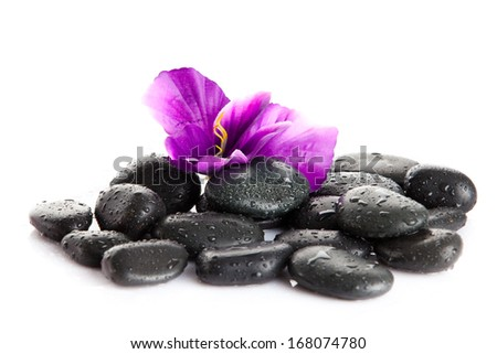Zen pebbles.  background of a spa with stones