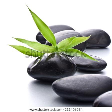 Zen pebbles. Stone spa and healthcare concept. - stock photo