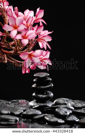 Zen pebbles. Stone -spa concept. - stock photo