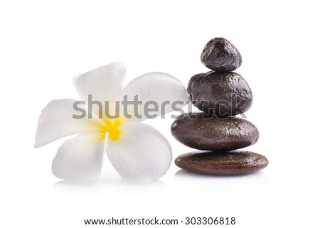 Zen spa concept isolated on white background