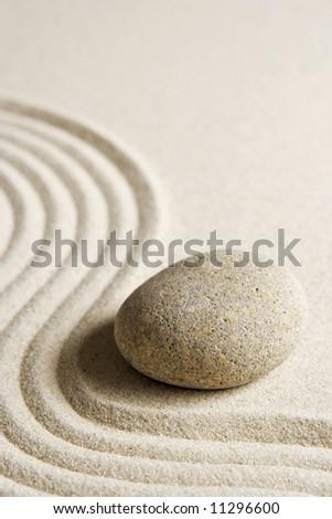 Zen stone - stock photo