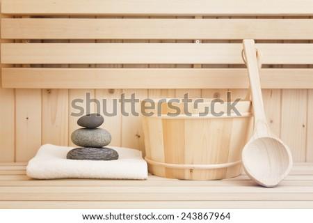 zen stones and sauna items