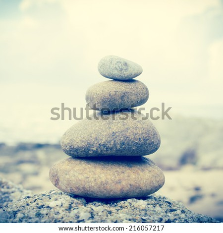 Zen stones Background,Dramatic Look