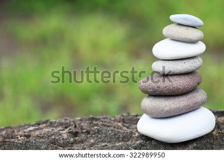 Zen stones balance spa outdoors - stock photo