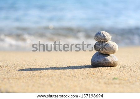 Zen Stones on the beach