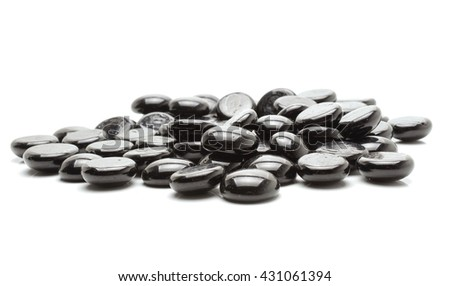 Zen stones on white background