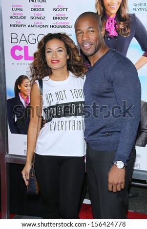 "Zena Foster and Tank at the ""Baggage Claim"" Premiere, Regal Cinemas, Los Angeles, CA 09-25-13"