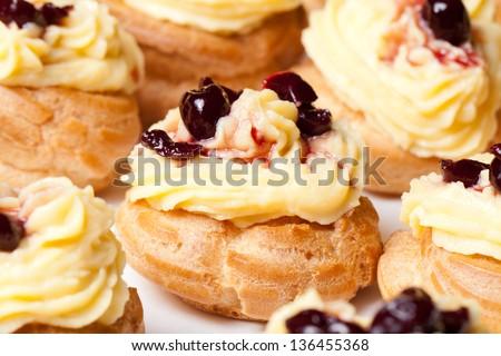 zeppole, italian cake - stock photo