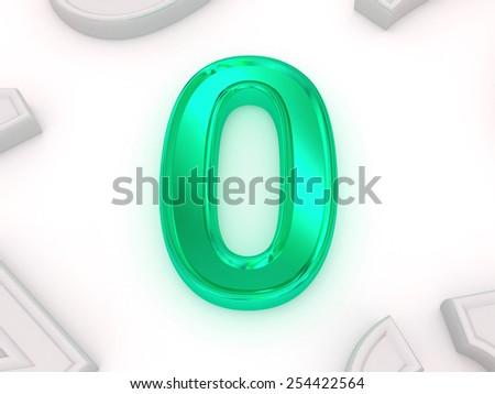 zero. 3d - stock photo