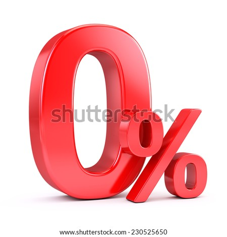 Zero percent - stock photo
