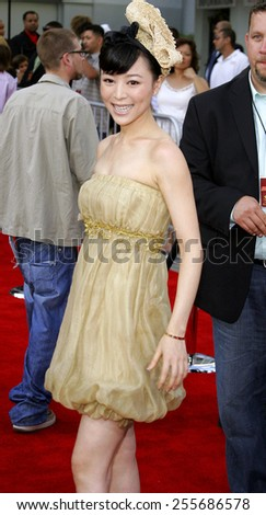 "Zhang Jing Chu attends the Los Angeles Premiere of ""Rush Hour 3"" held at the Mann's Chinese Theater in Hollywood, California, on July 30, 2007."