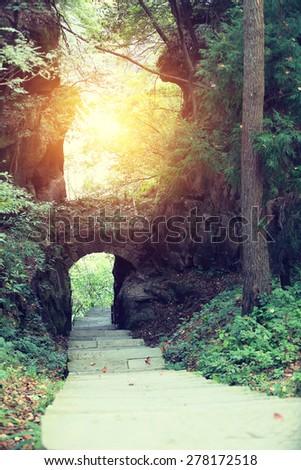 zhangjiajie national forest park,china - stock photo