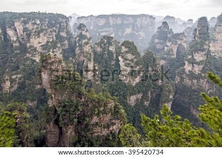 Zhangjiajie National Forest Park, Hunan, China - stock photo
