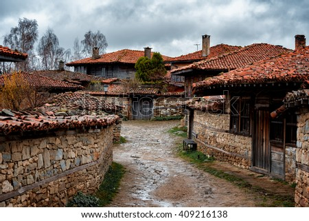 Zheravna is a village in central eastern Bulgaria. The village is an architectural reserve of national importance consisting of more than 200 wooden houses from the Bulgarian National Revival period