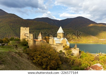 Zhinvali reservoir, Georgia - stock photo