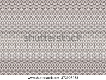 Zig zag pattern made of linen fiber fabric. - stock photo