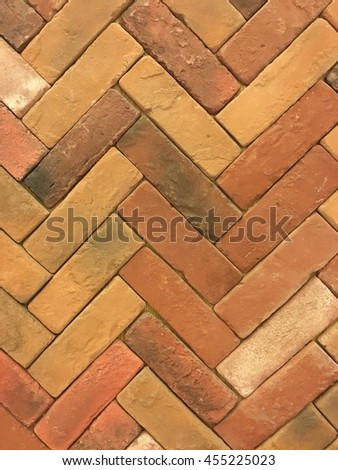 Zigzag red brick pattern