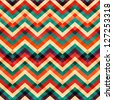 zigzag seamless pattern with grunge effect (raster version) - stock photo